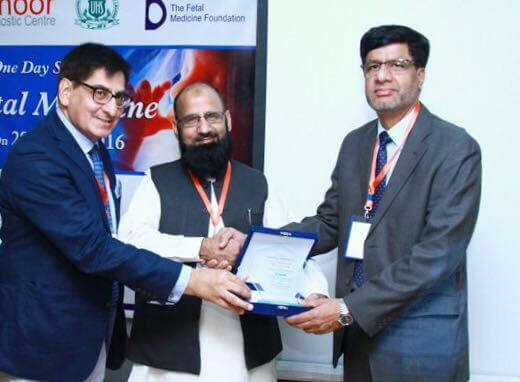 Fetal Medicine Seminar Rewarding Dr. Safder Malik